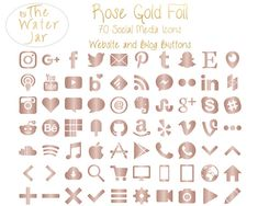 App Iphone, Iphone Icon, Social Icons, Social Media Logos, Evernote, Smartphone, Planner Stickers, Rose Gold Metallic, Social Media