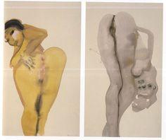 Mandy and Dorothy, 1998, ink wash, Marlene Dumas