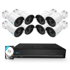 Reolink 16CH 5MP PoE Home Security Camera System, 8 x Wired 5MP Outdoor PoE IP Cameras, 5MP 16 Channel NVR Security System w/ 3TB HDD for 7/24 Recording...