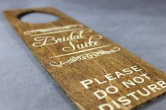 Beautiful wedding door hanger for the Bridal Suite.  Would be perfect for the rustic wedding.  wedding ideas.  doorknob knocker wedding.  bridal suite decor.  wedding decor. rustic weddings. vintage weddings.