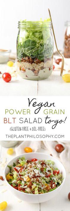 Healthy Power Grain BLT Salad To-Go! | Vegan, Gluten-Free & Oil-Free | The Plant Philosophy