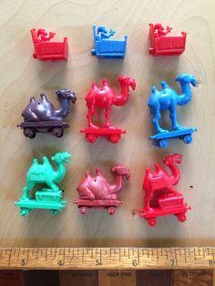 1960s Camel Train Kelloggs R L Cereal Toys Bulk LOT Chimps BED With POT   eBay
