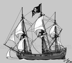 Pirate Ship by Amarynceus.deviantart.com on @deviantART