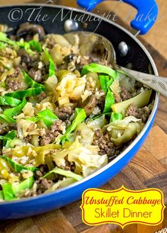 Cast iron skillet recipes are great for quick meals that the family will love! Pick from these 20 recipes to get started on your cast iron skillet dinner. 20 Cast Iron Skillet Recipes The Family Wi… Iron Skillet Recipes, Cast Iron Recipes, Skillet Dinners, Unstuffed Cabbage, Cooking Recipes, Healthy Recipes, Healthy Meals, Steak Recipes, Delicious Recipes