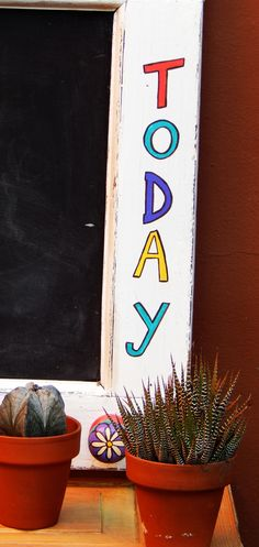 "Pizarra ""Enjoy Today"" (detalle)"