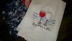 American Wine Tea Towel Summer Kitchen Decoration Perfect for Beach House on Etsy America Birthday, Realtor Gifts, Summer Kitchen, Red White Blue, Fourth Of July, Tea Towels, Kitchen Decor, Reusable Tote Bags, Wine