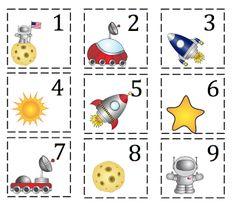Preschool Printables: Rocket Number Cards 1-100