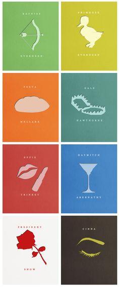 #TheHungerGames: #CatchingFire character minimalist posters