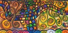 "Abstract Acrylic on Canvas (24"" x 12"")"