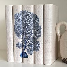 Blue White Coral Decorative Books, Beach Decor Books, Coral Book Set, Blue  Books, Ivory Books, Beach House Book Decor, Coastal Decor