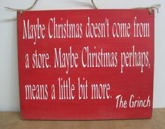 Christmas Grinch Sign Primitive Holiday Wood by dlightfuldesigns, $14.00