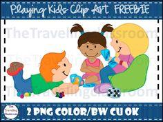 FREE Playing Kids Clip Art