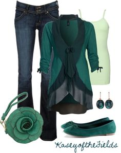 """""""Teal the End of Time"""" by kaseyofthefields ❤ liked on Polyvore"""
