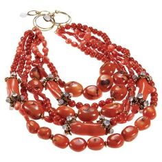 bamboo and coral Coral Jewelry, Beaded Jewelry, Jewelry Necklaces, Beaded Bracelets, Red Necklace, Earrings, Necklace Designs, Beautiful Necklaces, Artisan Jewelry