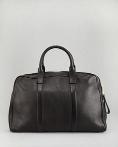 Pebbled Leather Duffel Bag by Tom Ford at Bergdorf Goodman.
