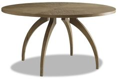 """Atherton Onyx Screen  Atherton Teak Round Dining Table SKU # AT-301 58""""w x 58""""d x 29.5""""h Finish: Constructed of teak, subtly cerused 1280 in 2014"""