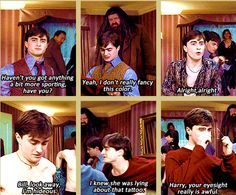 """this is one of the funniest moments in deathly hallows...my favorite is """"i knew she was lying about that tattoo!"""" and thats because its from the book! :) O ginny!"""