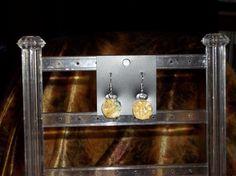 Citrine Pendant earrings  from Pett's Originals #Craftfest