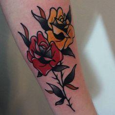 #tattoo #rosestattoo #tatuaż #neotraditionaltattoo #traditionaltattoo #tattoos #grubykruk #grudziadz