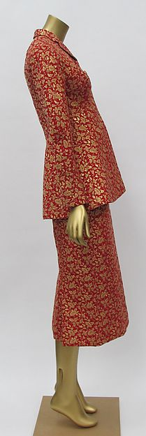 side view - Designer: Charles James (American, born Great Britain, 1906–1978). Silk suit, 1957
