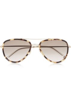 Gucci - Aviator-style acetate and metal sunglasses f95f13ee7b