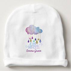 #glitter - #Little Princess Rainbow Cloud Gold Baby Girl Baby Beanie