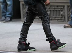 12234740190 - kanye west wearing out his upcoming air yeezy 2 in