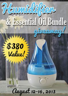 Great Giveaway! Humidifier and Essential Oil Bundle!