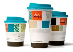 Hot Beverage Cups    Cup designs feature blend patterns and distinctive lids.