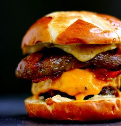 Sweet and smoky Brat burger   These Burgers Are So Epic They Deserve Gold Medals