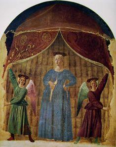 Piero della Francesca - Madonna del parto - affresco - 1455-1465 - Museo del Parto,  museo appositamente predisposto a Monterchi (Arezzo)