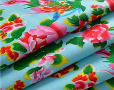 Tissus traditionnel Chinois bleu claire 5m