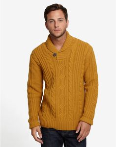 love this yellow harwinton men's sweater from joules.