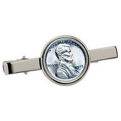 1943 Lincoln Steel Penny Silvertone Tie Clip American Coin Treasures http://www.amazon.com/dp/B00O13MS2A/ref=cm_sw_r_pi_dp_pDWivb1M3J90N