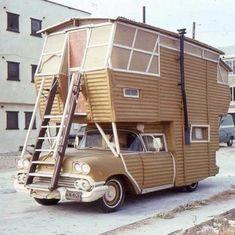 Home made Camper Mini Camper, Truck Camper, Camper Life, Tent Campers, Cool Campers, Camper Trailers, Station Wagon, Motorhome, Volkswagen