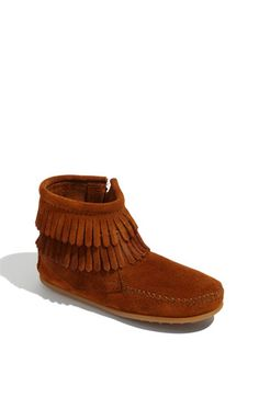 Minnetonka Minnetonka 'Double Fringe' Boot (Walker, Toddler, Little Kid & Big Kid) available at #Nordstrom