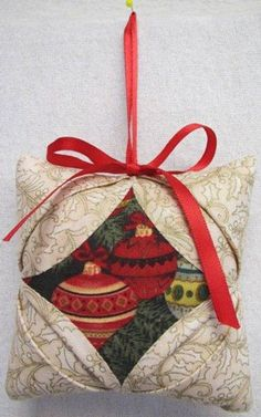 Cathedral Window Quilt Ornament