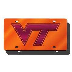 Virginia Tech Hokies NCAA Laser Cut License Plate Cover