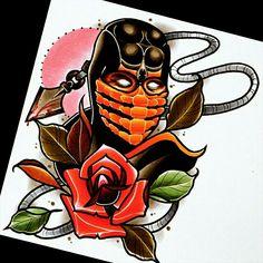 Mortal Kombat Design tattoo