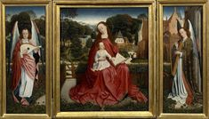 Triptych of the Virgin with Child surrounded by musician angels / Middle Ages / Renaissance / Highlights / Collections - Palais des Beaux Arts de Lille Robert Campin, Renaissance, La Madone, Fra Angelico, Chef D Oeuvre, Religious Art, African Art, Middle Ages, Les Oeuvres