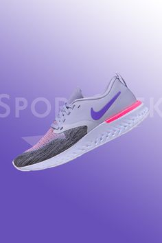 The Nike Odyssey React Flyknit 2 provides a combination of lightweight Flyknit and synthetic material for support. Cushioning includes ultra-soft, ultra-springy comfort that lasts as long as you can run.