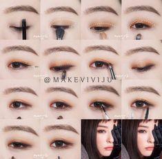 Korean makeup ideas: It's paramount to understand that beauty is not merely skin. - Korean makeup ideas: It's paramount to understand that beauty is not merely skin deep. Korean Makeup Look, Korean Makeup Tips, Asian Eye Makeup, Korean Makeup Tutorials, Natural Eye Makeup, Eyeshadow Tutorials, Natural Beauty, Eye Makeup Glitter, Kiss Makeup