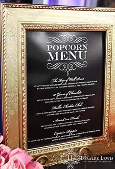 Oscars + Academy Awards Themed Party... Have a Popcorn Bar and use movie titles for flavors/recipe ideas on a menu!