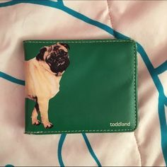 Pug wallet For any pug lover (such as my self), this is a must have! Toddland Bags Wallets