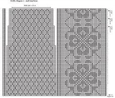Diagram skaft bak og  foran - SOKKER - rosemønster