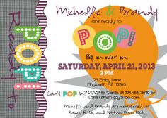 PRINTABLE Ready to Pop Themed Baby Shower by luvbugdesign on Etsy, $14.00