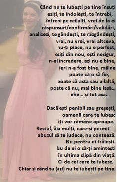 cand nu te iubesti Let Me Down, Cool Words, Self Love, Quotations, One Shoulder Wedding Dress, Love Quotes, Memories, Motivation, Wedding Dresses