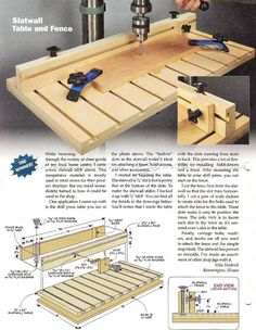 Drill Press Table and Fence Plans - Drill Press Tips, Jigs and Fixtures | WoodArchivist.com
