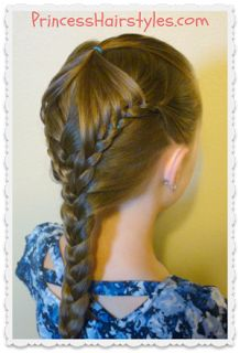 """""""Fairy wings braid"""" with #frenchbraid #hairstyle tutorial"""