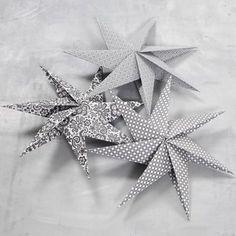 7-takket stjerne af kvadratisk papir |DIY vejledning